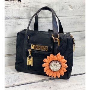 Moschino Couture Vintage Logo Canvas Hand Bag